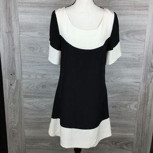 Aqua Silk Scoop Neck Mini Dress